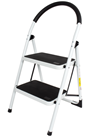 Steel Foldable 2 step Ladder Non-slip Tread