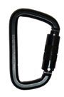 Quick And Easy Steel Twist Lock Construction Karabiner - GFAZ017T-BLACK