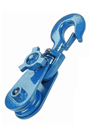 """8Tonne Snatch Pulley Block For 20-22mm 6"""" Diameter Sheave Wire Rope (Hook Attachment) SBLH8/6"""