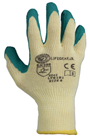 LifeGear Breathable Green & Yellow Latex Palm/ Finger Grip Gloves GLOVE-LT6181