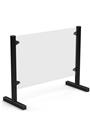 LifeGear Counter / desktop COVID-19 PVC protective screen