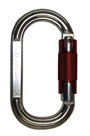 Aluminium Construction Karabiner With Twist Lock Snap Hook Mechanism GFAZ012T