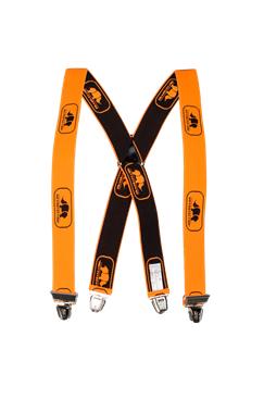 SIP Braces With Clips Hi Viz Orange/Black