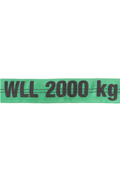 2t Webbing Round Lifting Polyester Strop/ Strap/ Sling 2T (0.5mtr to 6mtr) ROUND2XLG