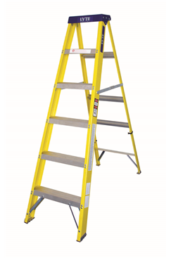 Lyte GFHS Trade Glassfibre Swingback Stepladder