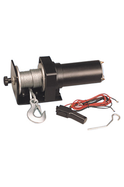 Electric Wire Rope Log Pulling Vehicle Winch 12vDC 1500LBS (682kgs) DW1500