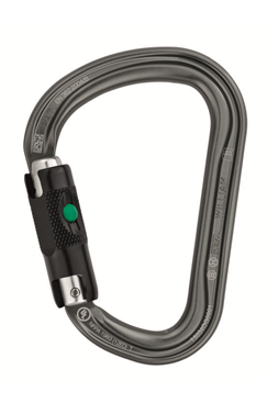 Aluminium Construction Karabiner With Ball Automatic Locking Mechanism (Pear Shape) PETZL-M36ABL