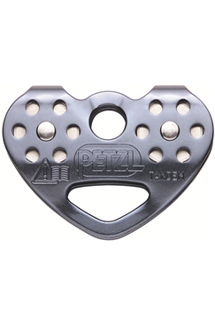 Petzl Tandem Speed Stainless Steel Rope/ Cable Double Pulley For Tyrolean Traverses (Up To 3 Carabiners) PETZL-P21
