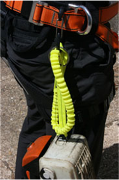 50KG Heavy Duty Tool Lanyard - Chainsaw (Metal Ring & Elasticated)