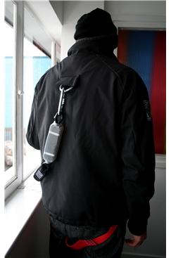 Jacket Safety Harness, Wind Breaker/Water Proof Black