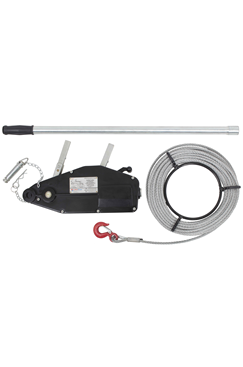 20 – 50mtr 800kg Aluminium Portable Wire Rope Winch For Pulling, Lifting, Lowering And Securing Loads WRW800