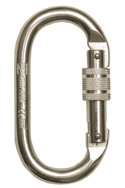 Stainless Steel Construction Karabiner With Screw Locking Mechanism GFAZ011-I-STAIN