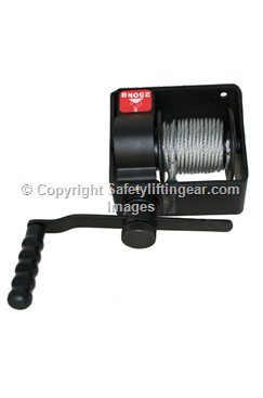Manual Lifting/ Hoisting Hand Winch - Type B, WLL 500 kg - Automatic Brake System & Rope Options Available WINCHI500