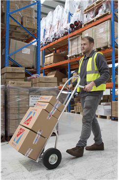 Lightweight Aluminium 150kg Sack Truck Trolley with Solid Wheels (Puncture Proof) ST-AL-HT1833