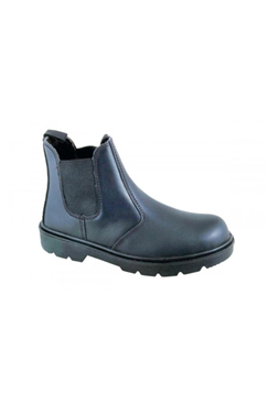 Steel Toecap Black Rock Dealer Safety Boot Black Size 7 to 11