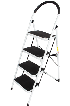 Steel Foldable 4 step Ladder Non-slip Tread
