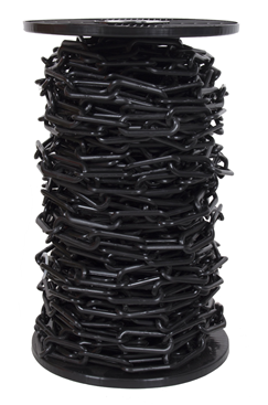 6mm BLACK Plastic Link Chain x 30mtr Reel