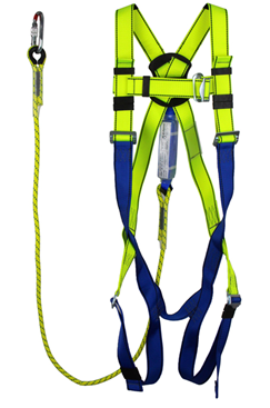 Harness and Shock Absorbing Lanyard Kit