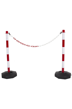 Plastic Chain Post Set (x2) with 10mtrs of Chain