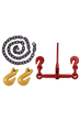 8000kg M.B.S Ratchet Loadbinder Set with Grab Hooks