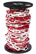10mm RED & WHITE Plastic Link Chain