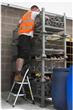 Steel Foldable 2 step Ladder Non-slip Tread