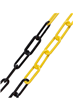 6mm YELLOW & BLACK Plastic Link Chain 30mtr Reel